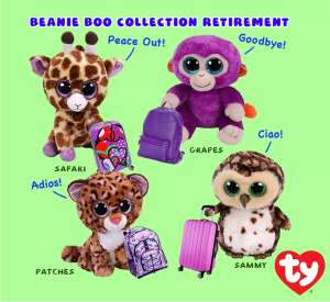 July 2018 Retired Beanie Boos
